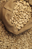 Bean. Close-up white bean in basket Royalty Free Stock Photos