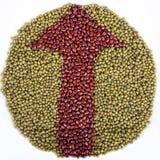 Bean Arrow Stock Photo