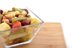 Bean and baby corn salad Stock Photography