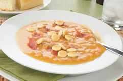 Bean with bacon soup Royalty Free Stock Photos