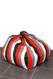 Bean bag. Modern bean bag for relaxation with straps royalty free stock photography