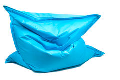 Bean bag chair. Shot of trendy blue bean bag chair royalty free stock image