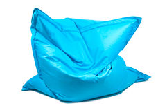 Bean bag chair. Shot of trendy blue bean bag chair stock photography