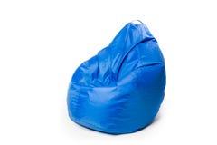 Bean bag chair isolated on white. Blue bean bag chair isolated on white Stock Photo