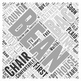 Bean bag chair 04 word cloud concept  background Stock Photography