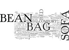 Bean Bag Sofa Word Cloud Image libre de droits