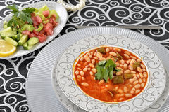 Bean. Baked bean wit clean table setting Stock Images