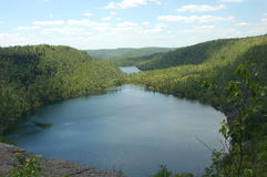 Bean and Bear Lake. On the Superior Hiking Trail in Northern Minnesota Royalty Free Stock Photography