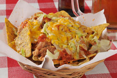Bean and cheese nachos Royalty Free Stock Images