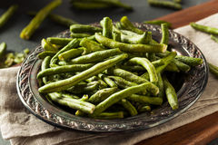 Bean Chips vert déshydraté nutritif en bonne santé image stock
