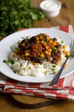 Bean and chorizo chilli Royalty Free Stock Images