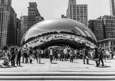 The Bean. Cloud Gate a.k.a The Bean in Chicago, Il Royalty Free Stock Photos