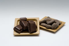 Bean of cocoa Stock Images