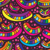 Bean coloful smile seamless pattern Royalty Free Stock Photography