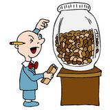 Bean Counting Accountant. An image of a bean counting accountant vector illustration