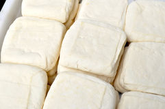 Bean curd. Tofu for sale on the market Royalty Free Stock Photos