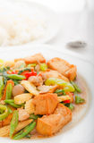 Bean Curd Fried With Vegetables In Thai Style Food Royalty Free Stock Image