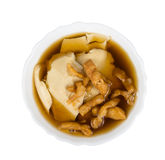 Bean curd jelly dessert in ginger isolated on white background,c Stock Photo
