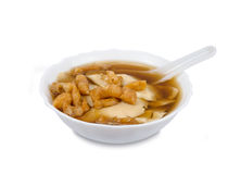 Bean curd jelly dessert in ginger isolated on white background,c Royalty Free Stock Photography