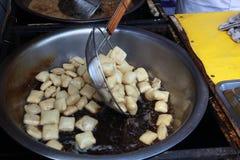Bean curd with odor Stock Photos