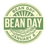 Bean Day Januari 6 royaltyfri illustrationer