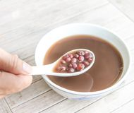 Bean Dessert vermelho imagem de stock