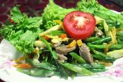 Bean Dishes Traditional Menu de Indonesia Imagen de archivo libre de regalías