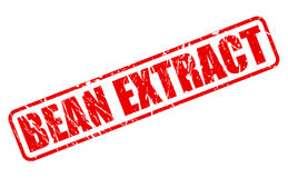 BEAN EXTRACT red stamp text Stock Image