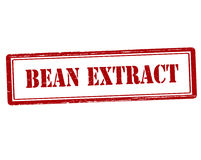 Bean extract. Rubber stamp with text bean extract inside,  illustration Royalty Free Stock Photography