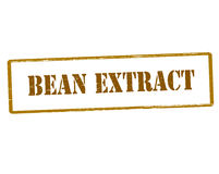 Bean extract. Rubber stamp with text bean extract inside,  illustration Stock Photo