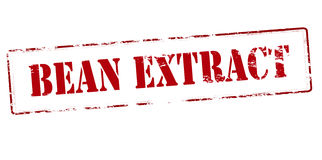 Bean extract. Rubber stamp with text bean extract inside,  illustration Royalty Free Stock Images