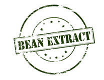 Bean extract. Rubber stamp with text bean extract inside, vector illustration Stock Photos