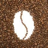 Bean formte den Rahmen, der von den Kaffeebohnen gemacht wurde stockfoto