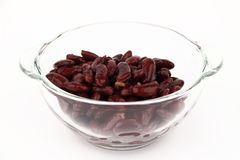 The bean in glass dish Stock Photos