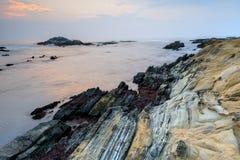 Bean Hollow State Beach Twilight royalty-vrije stock fotografie