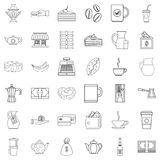 Bean icons set, outline style Stock Photography