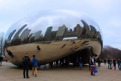 Bean Landmark Chicago City Illinois Fotos de archivo
