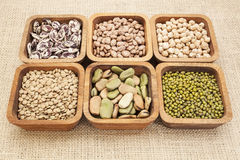 Bean and lentil set stock photography