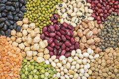 Bean, lentils and pea abstract Stock Photo