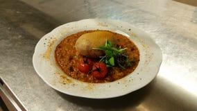 Bean-masala und Grill potatoe Stockfoto