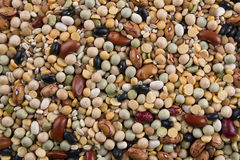 Bean mix. Heap of mixed beans, background Stock Photo