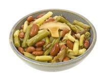 Bean and mushroom salad Stock Photo
