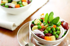 Bean & pea salad Royalty Free Stock Photo