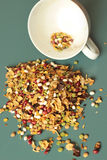 Bean and peas mix. And  white cup Royalty Free Stock Photography