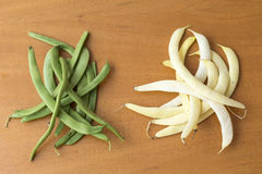 Bean pods of different colors Stock Image