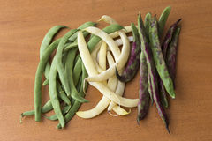 Bean pods of different colors Royalty Free Stock Images