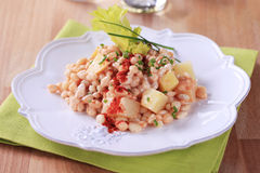 Bean and potato salad Royalty Free Stock Image