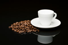 Bean's coffee cup Royalty Free Stock Photography