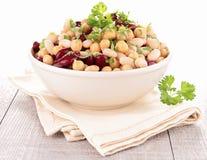Bean salad. Bowl of fresh bean salad Royalty Free Stock Images