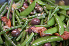 Bean Salad. Bean and olive salad at a deli Stock Photos